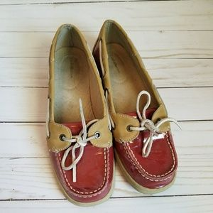 *Red and Tan Boat Shoes